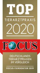 Die Tierarztpraxis Rödiger gehört zu den Top Tierarzpraxis 2020 im FOCUS Ranking
